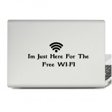 WIFI Here Laptop Sticker