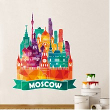 Moscow Cathedral Painting Pattern Illustration Wall Sticker
