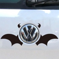 Creative Auto Logos Cute Bat Wings And Devil Horns Car Sticker on Car Styling Decal Motorcycle Stickers for Car Accessories