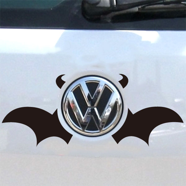 Auto logos cute bat wings and devil horns car sticker on car styling decal motorcycle stickers for car accessories