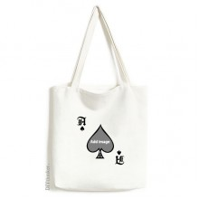 Handbag Craft Poker Spade Washable Bag