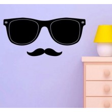 Sunglasses Beard Chalkboard Decal Sticker Home Decoration