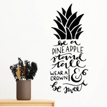 Be a Pineapple Stand Tall Wear a Crown & Be Sweet Motivation Encouragement Quotes Silhouette  Removable Wall Sticker Art Decals Mural DIY Wallpaper for Room Decal