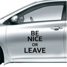 Be Nice or Leave Quotes Design Car Sticker on Car Styling Decal Motorcycle Stickers for Car Accessories