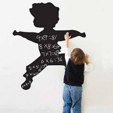Jumping Boy Chalkboard Decal Sticker Home Decoration