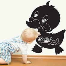 Black Duckling Chalkboard Decal Sticker Home Decoration