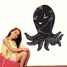 Black Octopus Chalkboard Decal Sticker Home Decoration