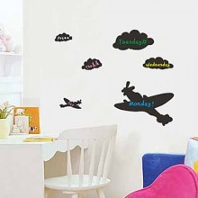 Air Plane And Cloud Chalkboard Decal Sticker Home Decoration
