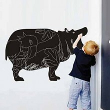 Cartoon Cattle Chalkboard Decal Sticker Home Decoration