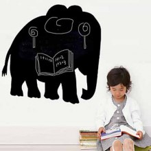 Black Elephant Chalkboard Decal Sticker Home Decoration