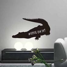 Black Crocodile Chalkboard Decal Sticker Home Decoration