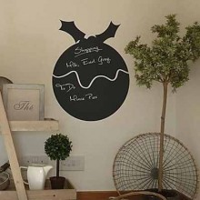 Christmas Bell Chalkboard Decal Sticker Removable Wall Sticker Art Decals Mural DIY Wallpaper for Room Decal