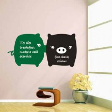 Cute Kissing Pig Chalkboard Decal Sticker Home Decoration