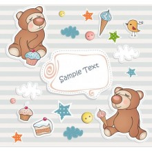 Cartoon bear card