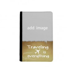 Traveling quato Passport Holder Travel Wallet Cover Case Card Purse