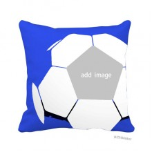 Square Washable Football Throw Pillow Cushion Case