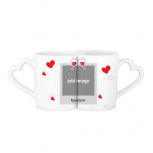 You&Me Mugs Set Love Couple White Cup Pottery Ceramic Handle
