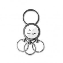 Stainless Steel Metal Key Chain Ring Car Keychain Keyring Clip Gift