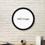 Round Picture Frame Art Prints of Paintings Home Wall Decal Gift
