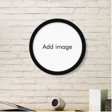 Round Frame Art Painting Wooden Home Wall Decor