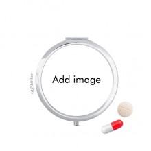 Pillcase Travel Mini Pill Drug Mirror Box for Pocket Purse
