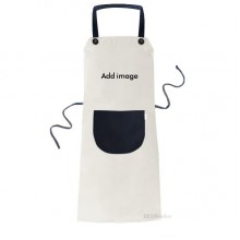 Apron Adjustable Bib Cotton Linen BBQ Kitchen Pocket Pinafore