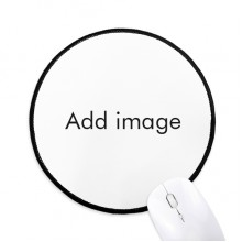 Mousepad Round Black Stitched Edge Mat Non Slip Game