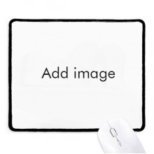 Mousepad Black Stitched Edge Mat Non Slip Game