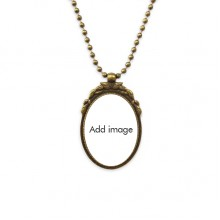DIYthinker Lady River Bridge France Mark Antique Necklace Vintage Bead Pendant Keychain