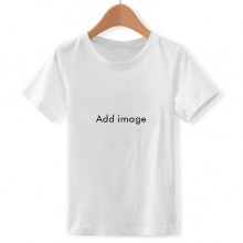 T-shirt Children White Short Sleeve Crew Neck Sport
