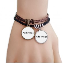 Bracelet Double Leather Rope Wristband Couple Set
