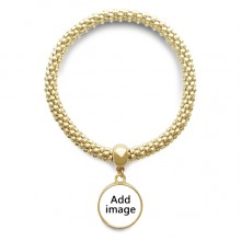 Golden Bracelet Round Pendant Jewelry Chain