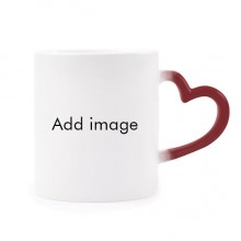Morphing Mug Heat Sensitive Red Heart Cup