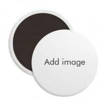 Round Ceramics Fridge Magnet Keepsake Decoration