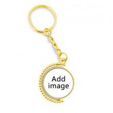 Metal Connector Key Chain Ring Accessory Golden Keyholder