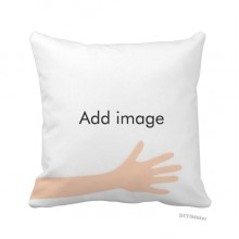 Hand Throw Pillow Square Cover
