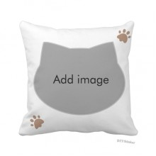 Cat Throw Pillow Square Cover