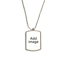 Stainless Steel Chain Dog Tag Pendant Pet Necklace