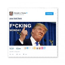 American President Trump Funny Fxxking Monday Ridiculous Spoof Angry White-collar Worker Meme Image Glasses Cloth Cleaning Cloth Phone Screen Cleaner 5pcs