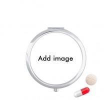 Travel Pocket Pill case Medicine Drug Storage Box Dispenser Mirror Gift
