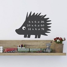 Hedgehog Pattern Chalkboard Decal Sticker Home Decoration
