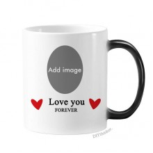 Heat Discoloration Love Photo Ceramic Cup