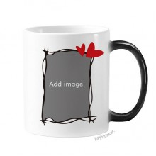 Changing Color Mug Morphing Heat Sensitive Cup Gift With Handles 350 ml
