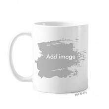 Paintbrush Mug White Ceramic Cup Gift With Handles 350 ml