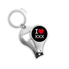 Key Chain Ring Multi-function Nail Clippers Bottle Opener Gift