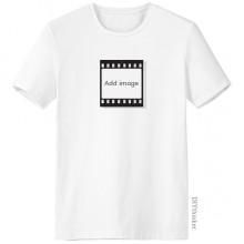 Film Crew-Neck White T-shirt Tagless Comfort Sports T-shirts Gift