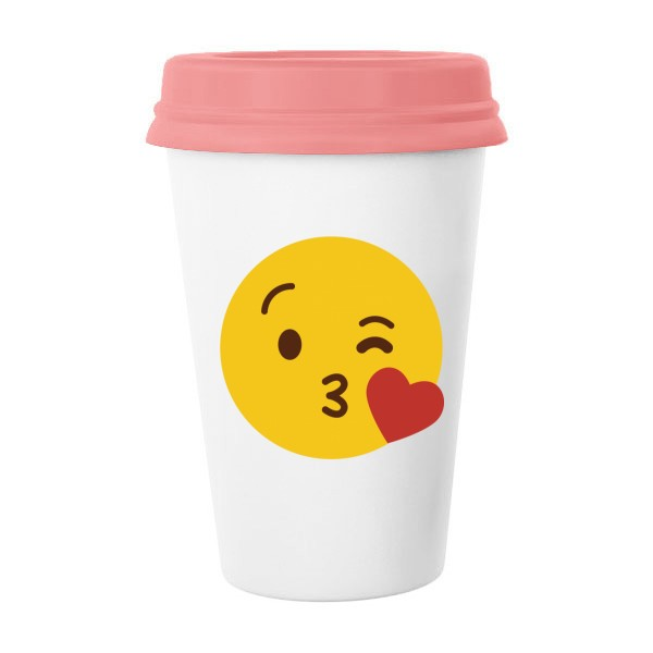[$19 99] Love You Yellow Cute Lovely Online Chat Emoji Illustration Pattern  Classic Mug White Pottery Ceramic Cup Milk Coffee Cup 350 ml | DIYthinker