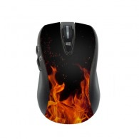 On Fire Burning Pattern Wireless Mobile Optical Mouse Game Mouse