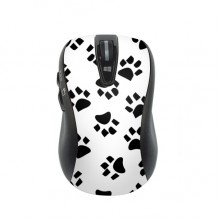 Cute Cat  Footprint Animal Art Grain Illustration Pattern Wireless Mobile Optical Mouse Game Mouse