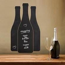 Bottle Pattern Chalkboard Decal Sticker Home Decoration